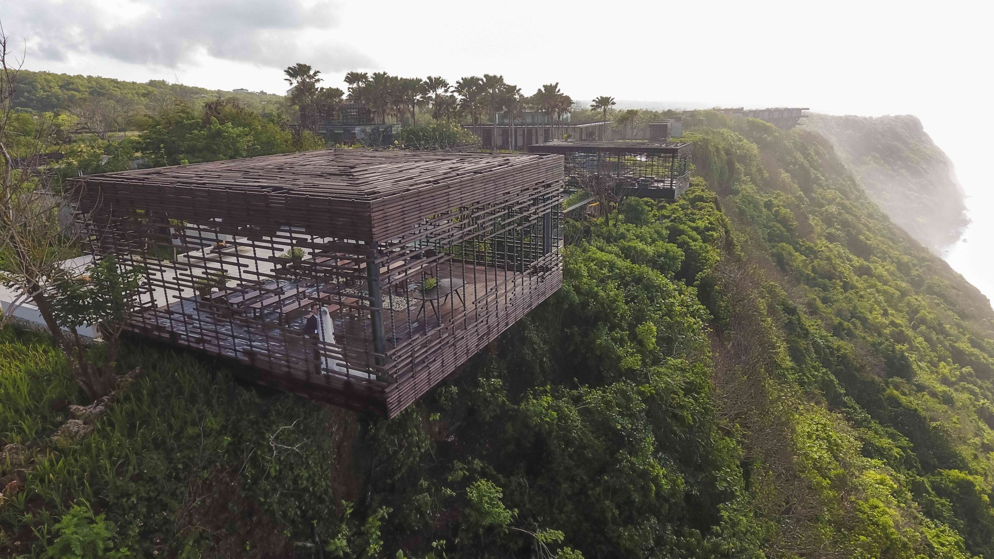 Bird's eye view of Wedding Venue in Alila Villas Uluwatu
