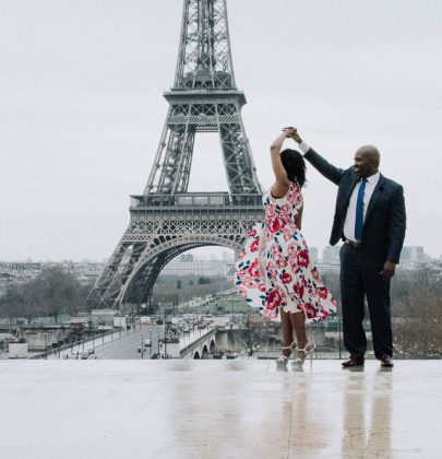 Antwoine & Sia's Engagement Shoot In Paris
