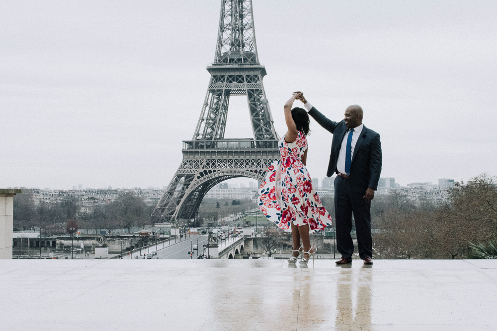 Antwoine & Sia | Paris Engagement Photoshoot by Harmonie Photography