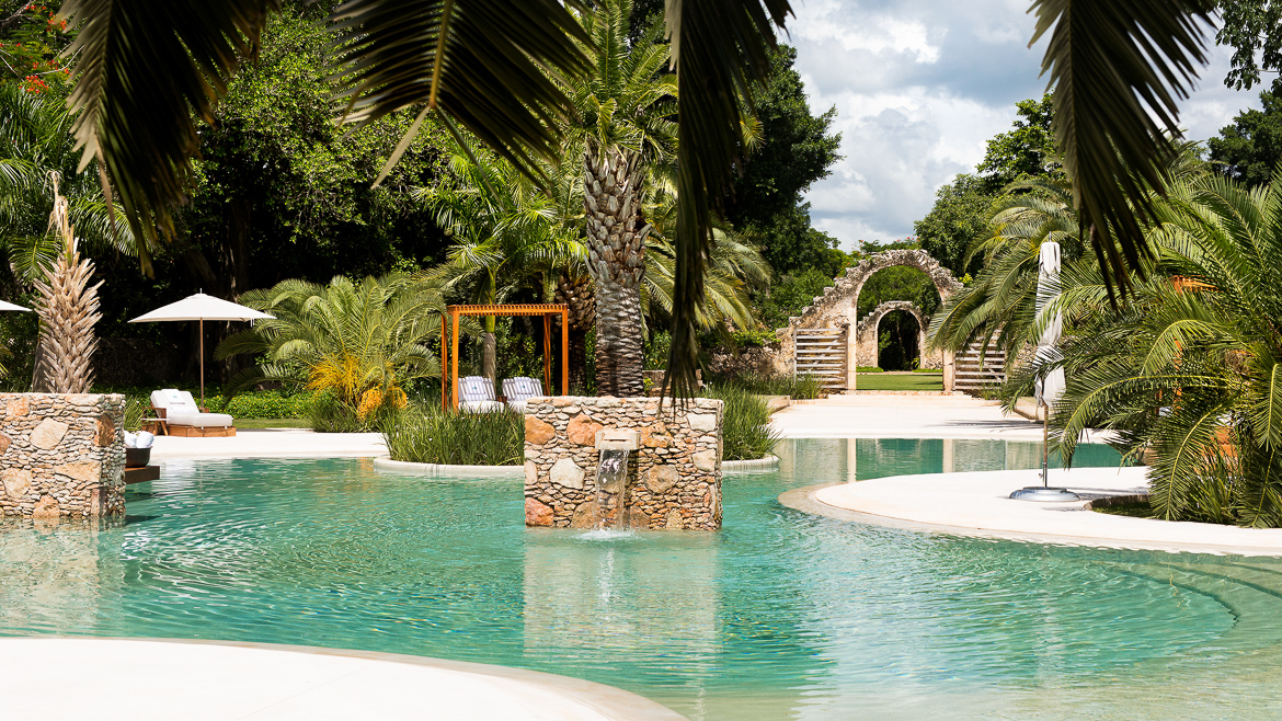 Pool at Chablé Resort & Spa, Yucatan