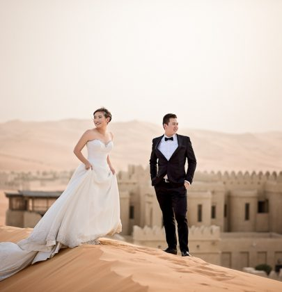 Luc & Alicia's Dreamy Desert Escape in Abu Dhabi by LoveInStills