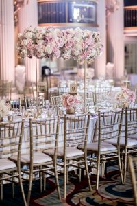 Pink, beige, white and gold romantic fairytale wedding theme