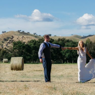 High School Sweethearts Jaimie & Kyle Wed in Boho Countryside Wedding