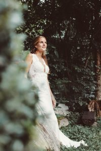 Elli in wedding gown