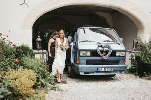 Wedding Bus & Bride