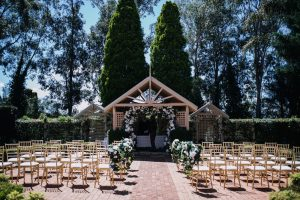 Romantic wedding reception venue