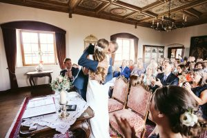 An Intimate Wedding at One of the World's Oldest Castle with Elli & Terry
