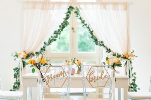 Solemnization Chair Decoration