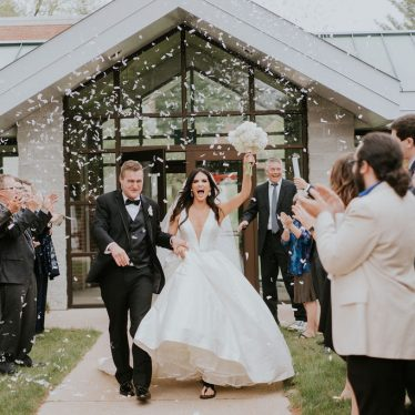 Elegant Wedding of Marah & Allan  featuring Justin Alexander Gown
