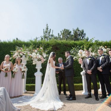 Romantic Wedding of Morgan and Francesco at Campbell Point House