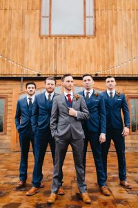 Matthew with his groomsmen