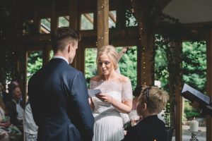 Katy and Ben reading vows