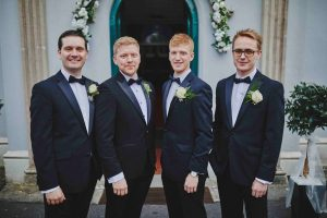Groomsmen at St John's Church, Killenard, Co.Laois