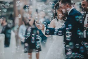 Bubble exit wedding