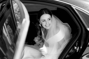 Bride arriving to the ceremony