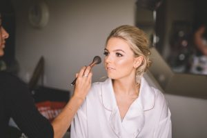 Hollie getting her make up done