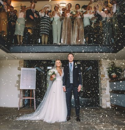 Holli & Richard celebrates their nuptial  in the cozy Priory Cottages