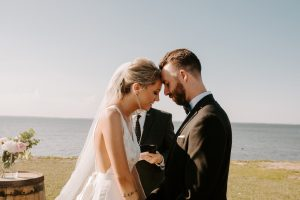 Cozy & Self-Coordinated Simple Wedding Featuring Truvelle Gown