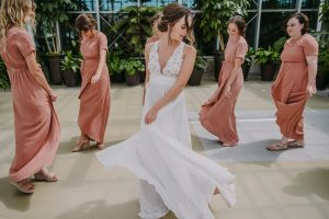 Bride Emma in Truvelle Wedding dress