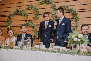 Groomsmen giving a speech