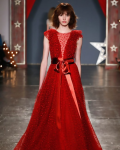 Red wedding dress from Jenny Packham Spring 2018