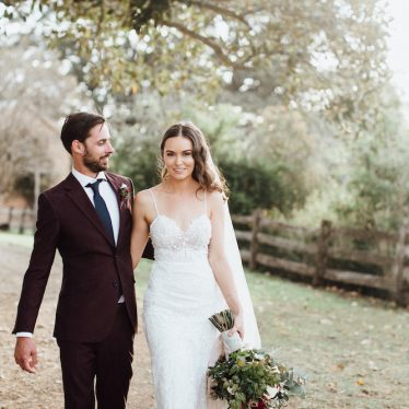 Stacey and Charles'  Vintage Chic Wedding with Velvet Details