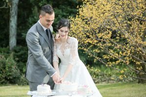 couple cutting cake in Japan