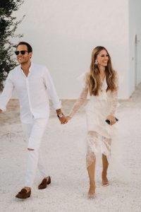 Josephine & Tobias marching in