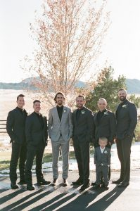 Taylor with groomsmen