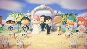 wedding of Raynler on animal crossing