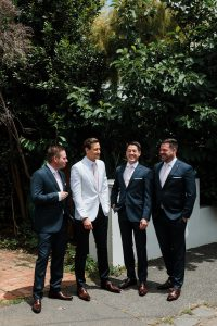 Kane and groomsmen