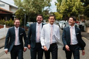 Kane with groomsmen