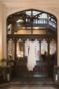 A-line gown by Halfpenny London