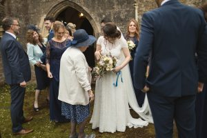 Melissa in A-line gown by Halfpenny London