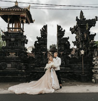 Stacey and Matthew's  Floral-Filled Wedding in Bali