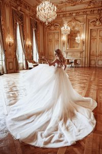 leah in gown